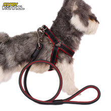CANDY KENNEL High Quality Pet Harness Leash Set Training Walking Leads For Large Dog D1071(China)