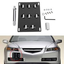 VODOOL 1pc Aluminum Car Auto License Plate Frame Number Plate Mount Bracket Holder for Universal Car High Quality(China)
