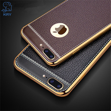 Buy KRY Litchi Grain Phone Cases iPhone 7 Case 7 Plus Luxury TPU Cover iPhone 7 Case 7 Plus Cases Plating Frame Capa Coque for $1.89 in AliExpress store