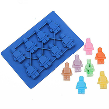 1 PC Square Lego Toy Brick Shape Silicone Cake Mould Silicone Chocolate Mould Fandant tool Bakeware Decoration Christmas Gift