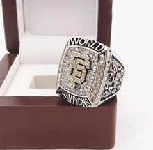 Who Can Beat Our Rings, High Quality 2012 San Francisco Giants Major League Baseball Replica Championship Ring with Wooden Boxes