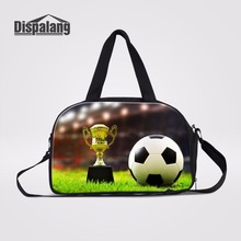 Dispalang Unique World Cup Foot Ball Men Luggage Travel Bag Cross Body Bag With Independent Shoe Space Trip Travel Duffle Bag(China)