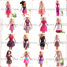 50Sets/lot Fashion Lady Outfit Fashion Wear Coat Blouse Trousers Shorts Pants Skirt Dress Clothes For Barbiee Doll Randomly Pick