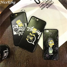 sFor iPhone 6 Case iPhone 7 Case Silicon Cartoon Simpson Capa Funda Soft TPU Back Cover Phone Case For iPhone 5S SE 6 6S 7 Plus