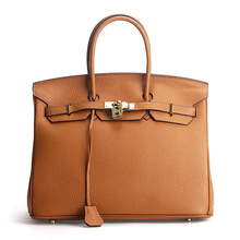 2017 Newest Luxury Fashion Classic 100% Genuine Leather Women Bag Famous Handbag Cowhide ladies' Tote Bag Platinum Clutch bag(China)