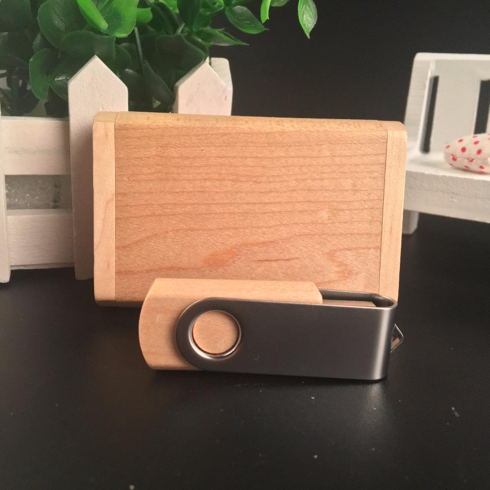ODM OEM Custom Wedding Photography Encord LOGO Wooden Clip + Box USB 2.0 Version memory flash stick pen drive A0001 2