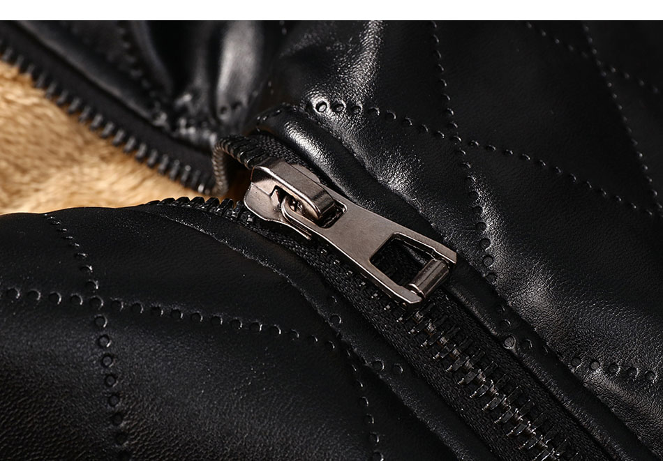 mens leather winter bomber jacket fur 08