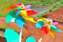 New Classic Toy Windmill Outdoor Sports Fun 32cm Pinwheel Toys Kids DIY Learning Education Plastic Windmills Party Prom Supplies