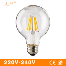Led Filament Bulb G80 G95 G45 Global vintage Led Edison bulb E27 220V 2W 4W 6W filament Led Light Bulb Glass Decorat Retro Lamp