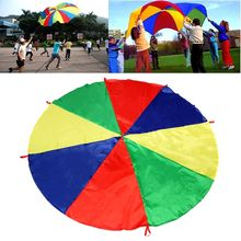 2017 New Brand 2M Kids Play Rainbow Parachute Outdoor Game Development Exercise Group Activitie Funny Team Toys Party Toys