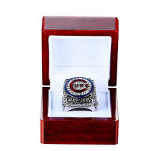 Drop Shipping 2016 Official Version Chicago Cubs Zonbrist Baseball Solid Championship Ring Size 8-14
