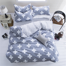 Sookie Queen/King Size Polyester Cross 3 Pieces Bedding Sets Reversible Soft Comforter Cover Pillow Cases Duvet Cover Set