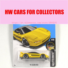 2017 New Hot Wheels 1:64 yellow acura nsx car Models Metal Diecast Car Collection Kids Toys Vehicle Juguetes Models(China)