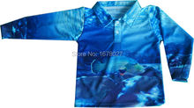 Custom design polyester  long sleeves fishing polo shirts