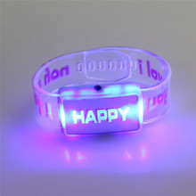 Superior New LED Luminous Watches Flash Bracelet Strap m3071(China)
