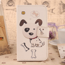 Exyuan Cute Patterned PU Leather Cell Phone Flip Case Protection Skin Cover For Digma VOX S507 4G 5''