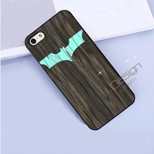 Fit for iPhone 4 4s 5 5s 5c se 6 6s 7 plus ipod touch 4 5 6 back skins cellphone case cover Batman Logo On Wood