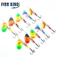 Buy FISH KING FTK Mepps Long Cast 5pcs/lot Fishing Lure Spinner Bait Fishing Tackle Artificial Hard Fake Fish Metal Lures Set for $10.36 in AliExpress store