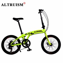 Altruism K1 Folding Bicycles 7 Speed 20 inch Aluminum Mountain Bike for Mens Womens Kid's Bicycle(China)