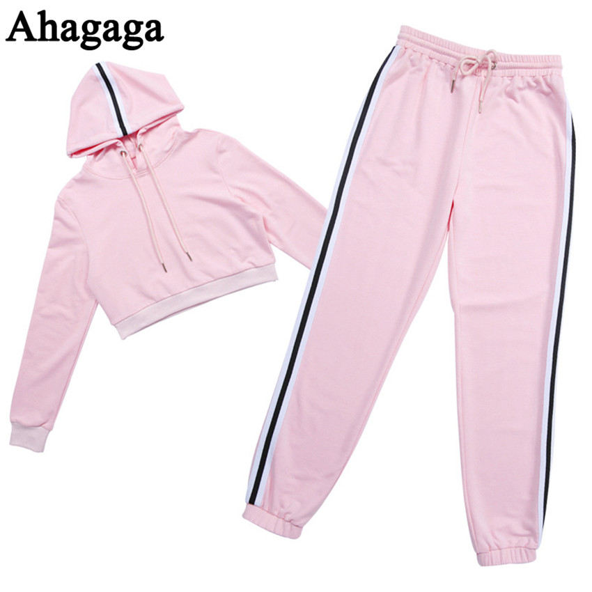 Women's Tracksuits Set, Casual Hooded Sweatsuit Set 39