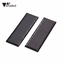 amzdeal Solar Panel Mini Polysilicon Solar Plate Battery Charger Module Outdoor Travelling Powerbank DIY Cell Module Charging(China)
