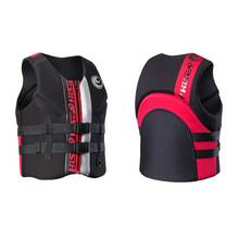 Men's Life Vest Premium Neoprene Life Jacket Front Zipper 2 belts safety for water sports Women's Youth Life Vest S to 3XL(China)