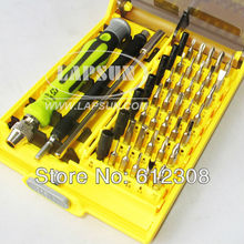 New Phone Tool Repair Torx 45 in 1 Screw Driver set with 0.8mm 1.2mm 5 Point Star Pentalobe Torx Screwdriver for iPhone iPad(China)