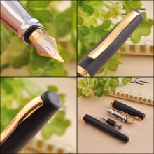 duke 209 golden and black M Nib Fountain Pen for School & Business Stationary(China)