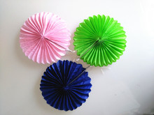 Holiday Supplies 15cm Paper Fans Tissue Paper Round Border Fans Party Wedding Decoration Shop Window Decorations Supplies Kids