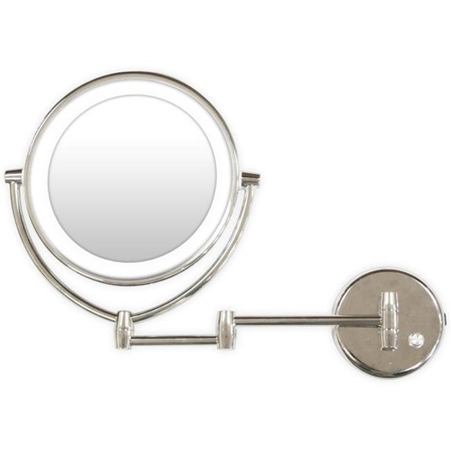 Rucci M950 1x and 7x Magnification Chrome Wallmount Led Lighted Mirror