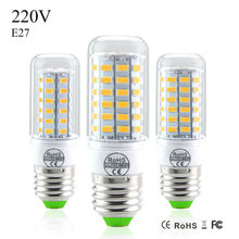 New LED Lamp E27 LED Bulb  220V 5730 SMD Corn Bulb 24 36 48 56 69LEDs Lamps With CE ROHS Christmas Chandelier Lighting