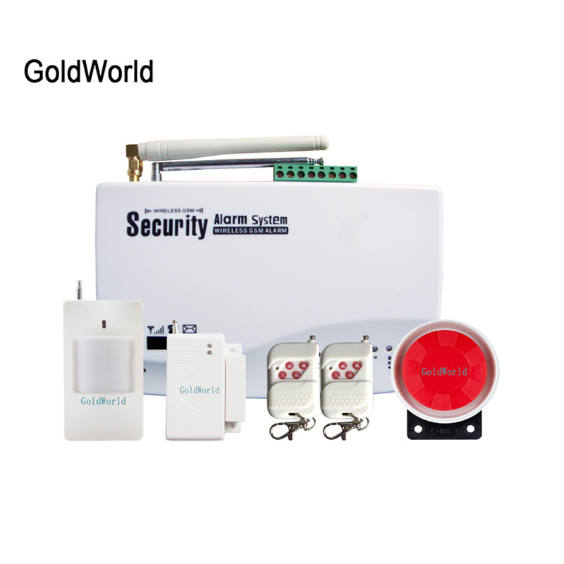 Russian Voice Wireless Security GSM SMS House Home Safety Intruder Alarm System (China)