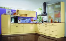 the orange series customized modern simple kitchen cabinet(China)