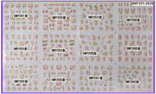 12 PACKS/LOT 3D SELF ADHESIVE GOLDEN CHRISTAL CROWN MONKEY GLASSES NAIL ART STICKER SMY 251-262G