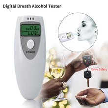 Digital Alcohol Tester Breath Tester Analyzer portable mini car tool for driving safety care white color(China)