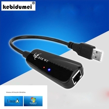 USB 2.0 10/100 Mbps Ethernet USB To RJ45 Wired Network Card Lan Adapter Hub for Windows 7/8/10/Vista/XP Linux PC(China)