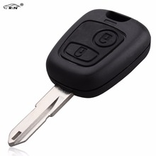 RIN 2 Buttons Remote Car Key For Peugeot 206 306 405 433MHz Transponder Key With PCB Battery With PCF7961 Chip NE73 Blade