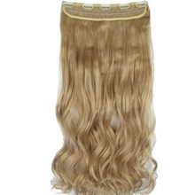 "TOPREETY Heat Resistant B5 Synthetic Hair 22"" 55cm 130gr Wavy 5 clips on clip in Hair Extensions 40 Colors Available(China)"