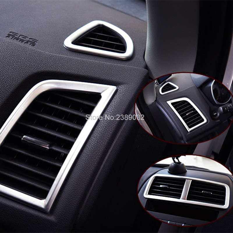 5PCS/SET Air Vent Covers Trim Matte ABS Chromed Car Kits Inner Car Accessories Fit For Mitsubishi ASX 2011 2012 2013 2014 2015(China)