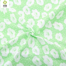 Printed Green Flower Pattern Cotton Fabric Tilda For Baby Bedding Clothing Tecido Quilting Sewing Tecidos Baby apron 160*50cm(Hong Kong)