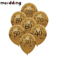 Buy MEIDDING 10pcs 30/40/50/60/70/80th Anniversary Latex Balloons Happy Birthday Balloon Wedding Anniversary Decor Birthday Supplies for $1.77 in AliExpress store