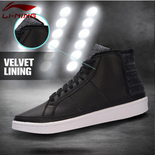 Li-Ning Women COMBAT STYLE Winter Basketball Culture Shoes Warm Plush Wearable Sneakers LiNing Sports Shoes AGBM002 XYL125(China)