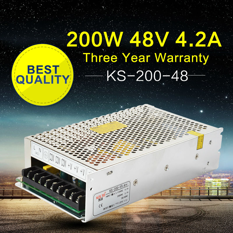 48V 200W Regulated Switching Power Supply Transformer 110V 220V to 48V AC-DC Variable Power Supply for LED Light Monitor<br>