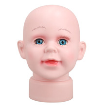 Cute Boy Manikin Head Hats Wig Mould Show Stand Model Mannequins Apparel Sewing & FabricE5M1