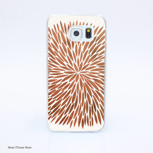 2855G Rose Gold Burst Print Hard Transparent font b Case b font Cover for Galaxy S3