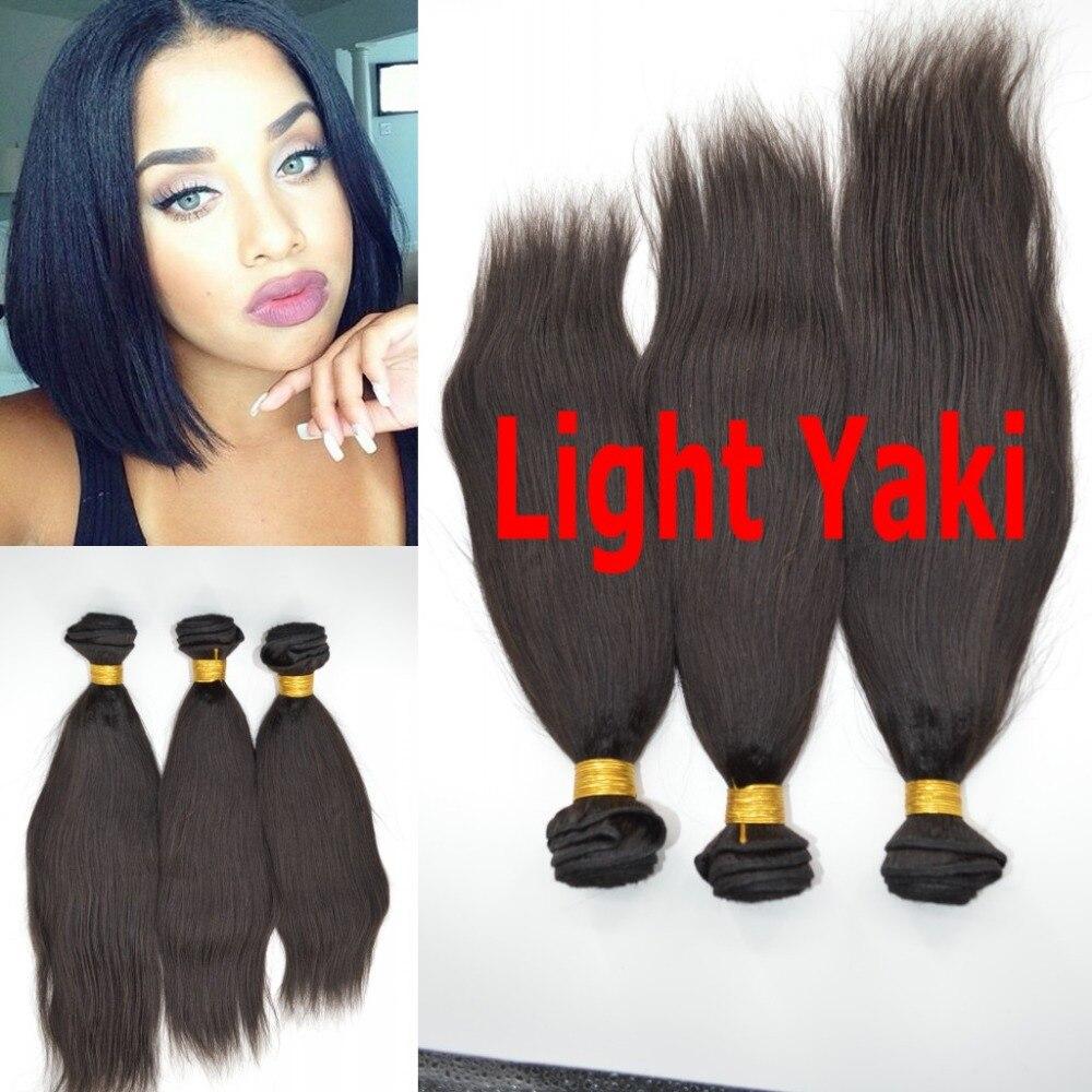 High Grade Malaysian virgin human hair Yaki straight light yaki italian yaki hair weave for Black Woman<br><br>Aliexpress