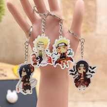 Naruto acrylic Keychain Action Figure Key Ring Pendant  Accessories Minato Uchiha Madara Akatsuki Collection Custom  LTX1