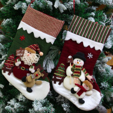 Creative Christmas gifts of High - grade cloth art the old hang Christmas gift decoration Christmas stockings(China)