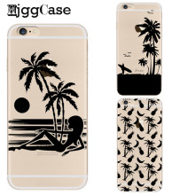 Nature Sunny Beach Sea Case For iPhone 7 7plus 6 6s 5 5S SE Soft Crystal Case Pineapple Cover For Coque iPhone 6S Case Capa bags