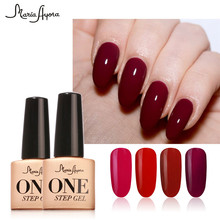 Maria Ayora One Step 7ml Fashion UV Nail Gel Polish Varnish Manicure Soak Off 3 in 1 Long Lasting Nail Gel Nail Art(China)